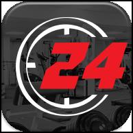 """Иконка мобильного приложения """"Fitness24"""""""